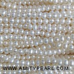 3524 near round potato pearl 2.5-3mm white color