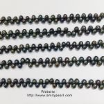 3324 top-drilled rice pearl strand 5mm peacock color